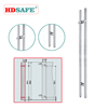 China high quality stainless steel glass door pull handle lock with thumb turn