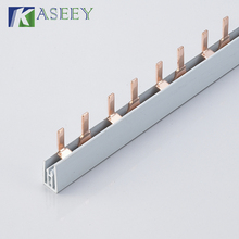 DISTRIBUTION BUSBAR, PIN TYPE 2 POLE 63A COPPER MCB BUS BAR