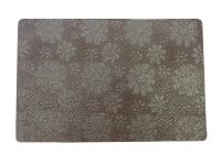 Modern design Rectangular Twill Embossed Blossom Dining Table Mat