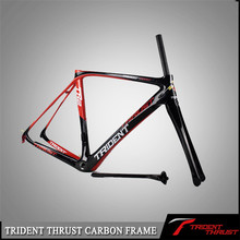 Trident factory price for OEM/DIY use Thrust painting for own brand logos acceptable china racing bike cuadros bicicleta carbo