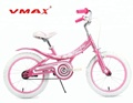 16/20 Inch Pink Girls Bike Steel Bicycle for 4-12 Years Old Kids Children