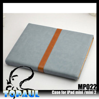 smart cork universal tablet leather 3 stand gear PU Leather Case for iPad Mini