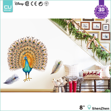 2016 New Designs Home Decor 3D Pop Up Wall Art Sticker