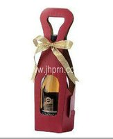 Textured Rib Paper Wine Bottle Carriers with Window