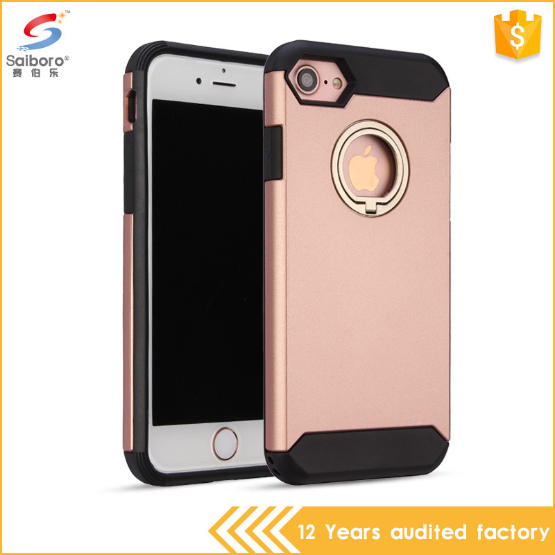 For iphone 7 new arrival 360 degree rotating hidden ring phone case