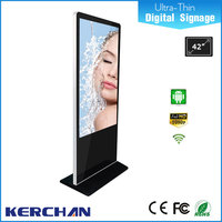 New design 42 inch ultra thin hd vedio sex animal and women commercial ad player