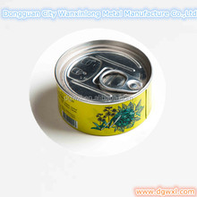 Easy open tin can lid food box