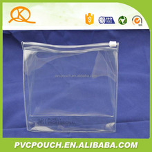Top sale custom quality heat seal pvc cosmetic clear travel pouch