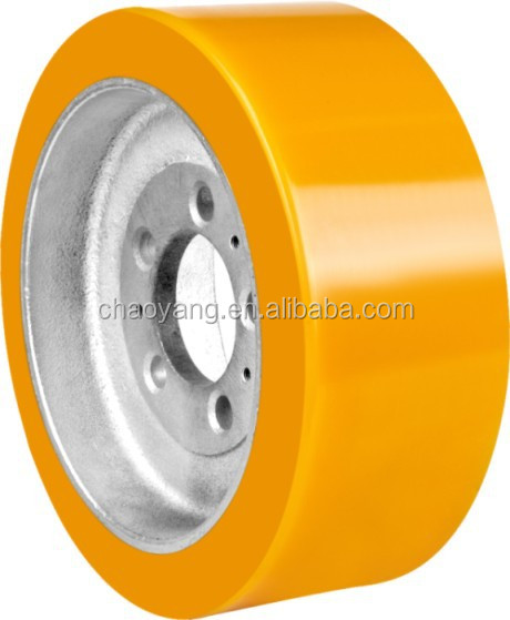 2014 hot selling driving PU wheel 310*125 for NOBLIFT truck