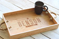 Engraved customized wooden sevring tray