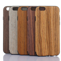 dropproof case for iphone 6s wood grain pattern mobile phone case cover for iphone 6