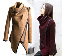 New Winter Ladies Casual Long Coat Warm Womens Slim Collar Jackets Outwear Top