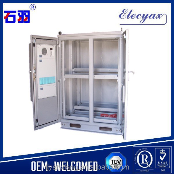 Free standing SK-419 <strong>19</strong> inch rack metal double swing door telecom/communication cabinet with cooling