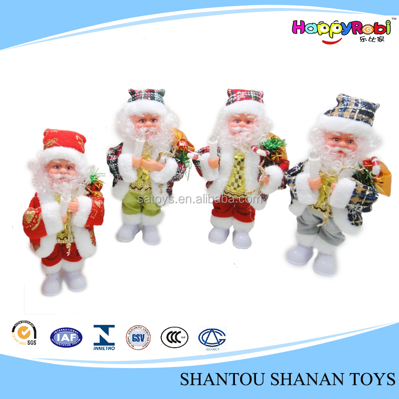 Promotion gift handmade moving santa claus with battery operated
