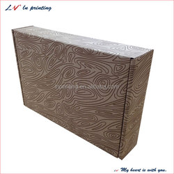 high quality One color print on kraft (brown) shipping box in shanghai