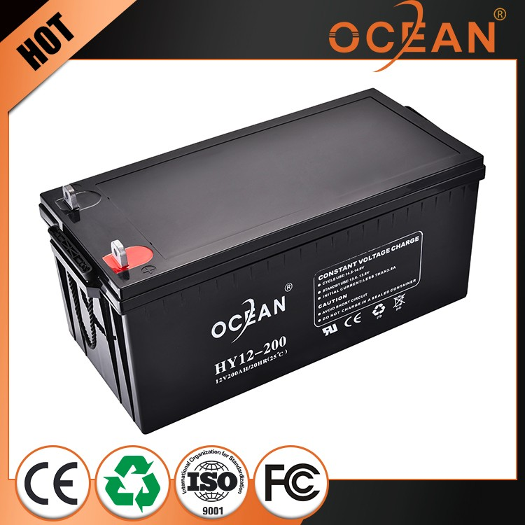 Reliable quality large power competitive price 12V 200ah storage battery