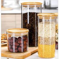 Top Quality Stackable Glass Food Storage Container With Leakproof Bamboo Lid Eco-Friendly Beautiful Food Storager