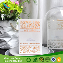 2017 Hot sale eco-friendly luxury wedding party invitation card sample