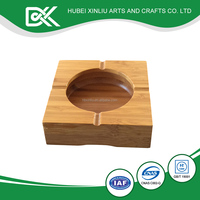 Mini bamboo outdoor ashtray for promotional gifts