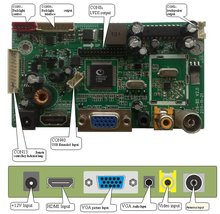 Multi-function LCD Monitor Control Board One High-definition Digital Multimedia Interface(HDMI)1.3A HDCP1.2 And DVI 1.0.