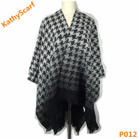 Factory Customized 100% Acrylic Woven Shawl