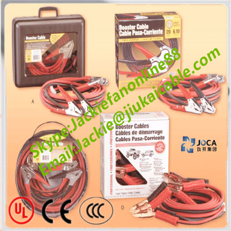 20 ft 4 gauge booster cable jumping cables power jumper heavy duty