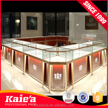 custom glass display showcase design