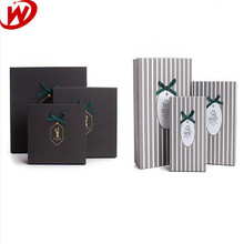 Alibaba China Custom Printed Black and White Gray Made Rectangle Paper Gift Box With Butterfly Knot