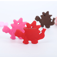 Beautiful animal silicone teether,dinosaur silicone teether toy