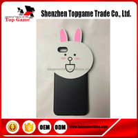 Cute Cartoon Rabbit Silicone Soft Case Cover Skin for iPhone 5 5S