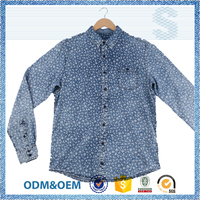 Direct factory price street wear long sleeve shirt for men,spring wear custom print shirt,comfortable stand collar men's shirt