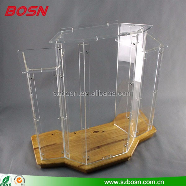 wooden lectern stand rostrum