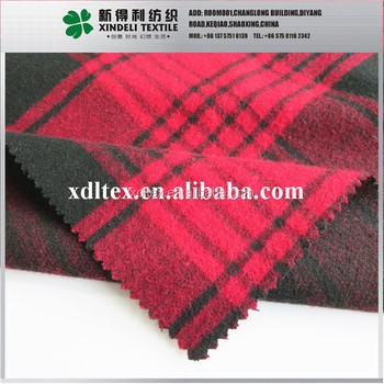 Soft texture multi red check gingham clothing woven TR fabric