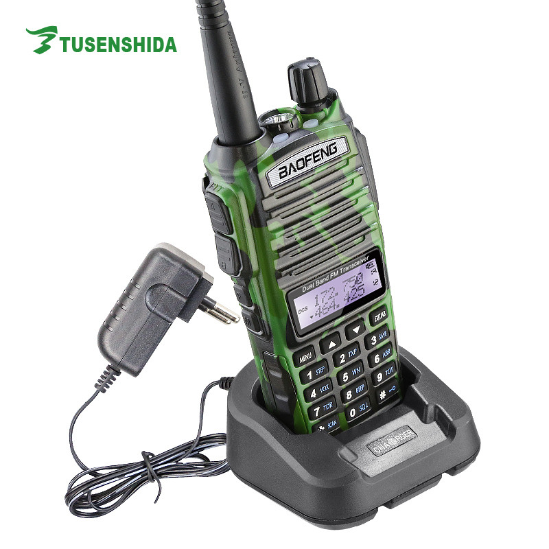 Military Camouflage color 8W Digital Baofeng UV-82 HAM Two Way Radio with FM CB and battery save Transceiver