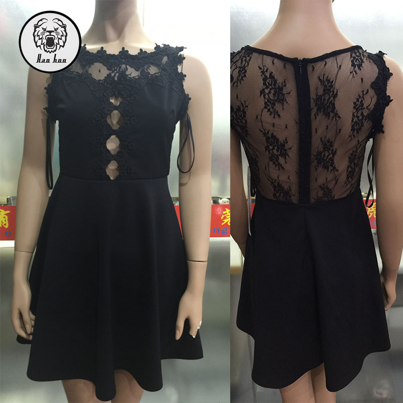 Midi Dress lace cut out backless party taobao dresses