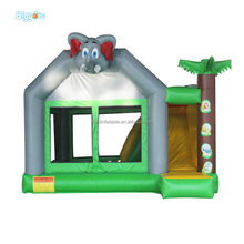 Commercial Grade Elephant Outdoor Games Inflatable Jumping Bouncer For Kids