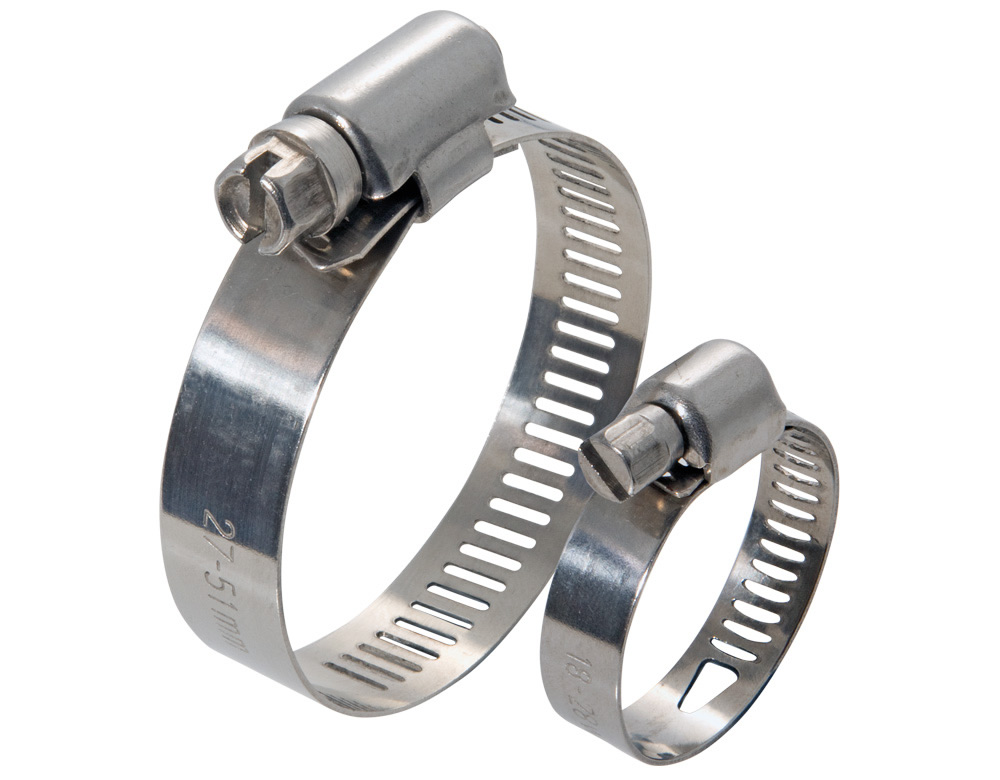 Handy Helpful Stainless Steel Hose Clamp w/ Screw Bolt Closure