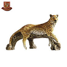 Factory custom made resin large animal statues polyresin leopard statues