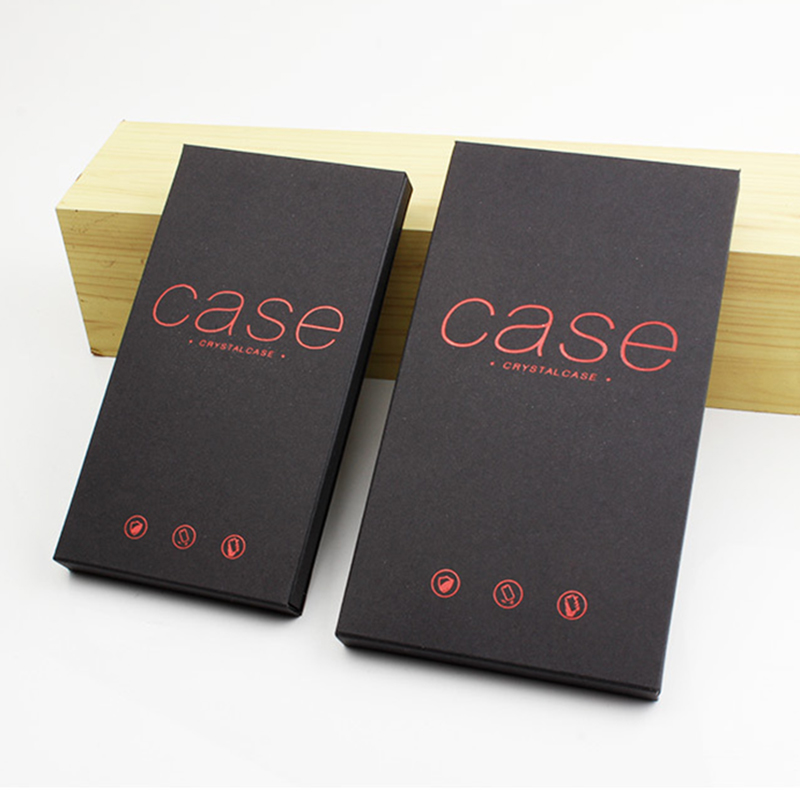 Black 400gsm kraft paper protect cell phone cover package box for phone case