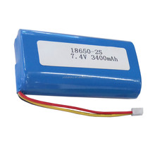 18650 2S1P 7.4V 3400mAh rechargeable lithium li ion battery pack with NCR18650B cell