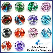 7mm loose stone zirconia gems multi-color cz zirconia stones