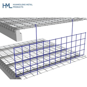 Custom warehouse welded galvanized shelving hanging pallet rack metal wire mesh dividers for decking