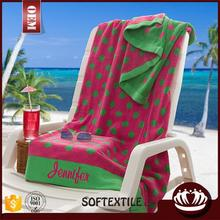 wholesale 100% cotton high quality lounge chair beach towel