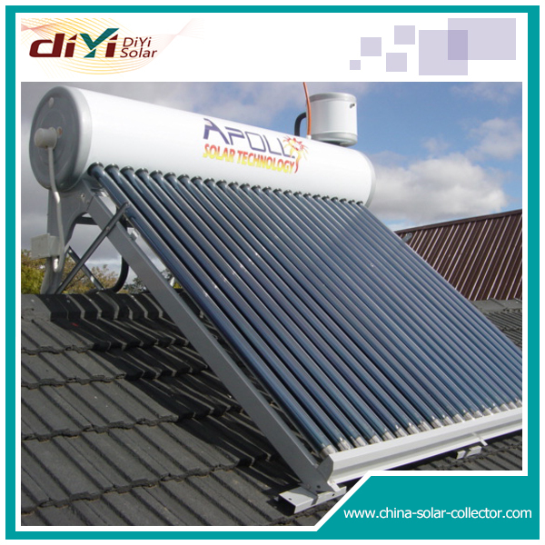 UV stablilized high temperature silicon integrated solar water heater