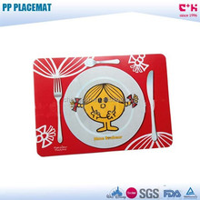 children cartoon printed pp plastic placemat for kids
