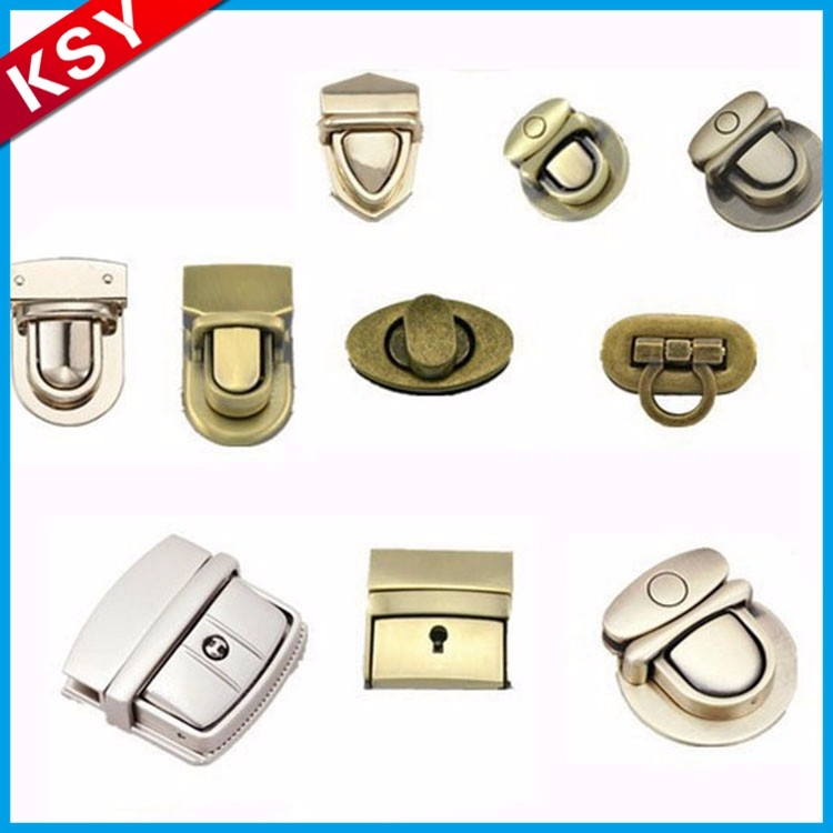 Wholesale Reasonable Price High Quality Suitcase Metal Woman Bag Lock Accessories For Handbags