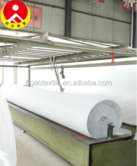 Home Textile,Agriculture,Car,Interlining,Hospital,Industry Use and Custom Width Non Woven Geotextile 300G M2