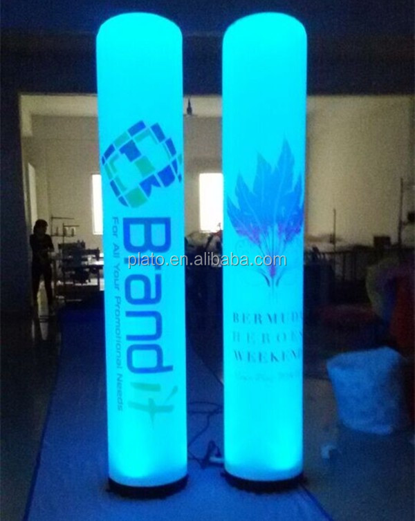 2m inflatable LED long tube / emergency inflatable light tube for outdoor decorations