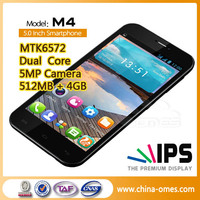 "5.0"" inch Latest cellphone model M4 MTK Popular Chinese MTK 3G mobile phone"