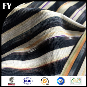 custom digital print linen fabric for sofa